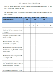 patient satisfaction survey template 10 free word pdf