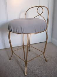 vanity chairs for bedroom bathroom alluring vintage vanity chair in gold iron stained and
