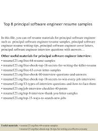resume software engineer sample top8principalsoftwareengineerresumesamples 150520132445 lva1 app6892 thumbnail 4 jpg cb 1432128333