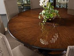 71 best dining room ideas images on pinterest dining room round an elegant take on contemporary the round dining table balances a cherry veneer patterned table