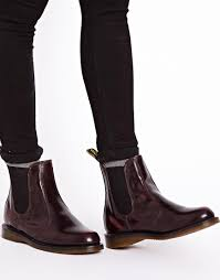 womens brown leather boots size 9 dr martens dr martens kensington flora burgundy chelsea boots at