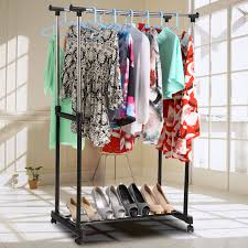 portable clothing hanging garment rack mixed color hang clothes