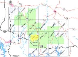 missouri caves map national forest maps publications