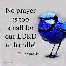 there is no problem big for the lord every problem is small