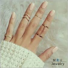 unique fashion rings images 2016 fashion 6pcs set unique style gold plated stacking midi jpg