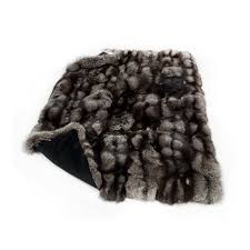 Furry Blanket Real Fur Blankets Genuine Throws Bedcovers By Fur Home