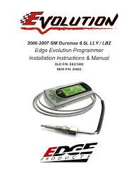 2006 2007 gm duramax 6 6l lly lbz edge