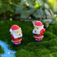 Fairy Garden Craft Ideas - 3pcs santa claus miniature figurine fairy garden ornament building