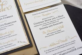 wedding invitations hamilton caleigh formal wedding invitation with glitter all that