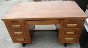 Executive Desk Solid Wood Union Hill Double Pedestal Executive Desk With Leather Insert Top