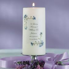 Wedding Memorial Forget Me Not Memorial Candle Wedding Memorial Items