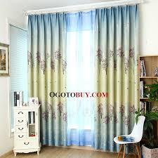Eclipse Samara Blackout Curtains Country Style Tree Pattern Light Yellow And Blue Polyester Energy