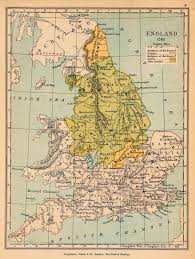 Kent England Map by Of England In 1065