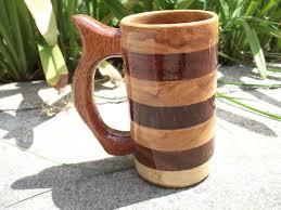 vintage swedish large wooden beer mug primitive decor medieval