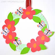 celebrate plate paper plate flower garden wreath crafty morning