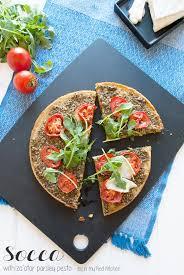 Red Kitchen Recipes - socca with za u0027atar parsley pesto