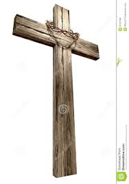 wood crucifix wooden crucifix with crown of thorns royalty free stock photos