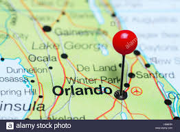 Map Of Ocala Fl Orlando Pinned On A Map Of Florida Usa Stock Photo Royalty Free