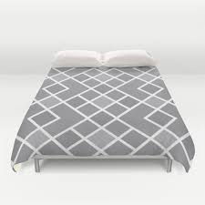 geometric pattern bedding geometric duvet cover slate grey and white modern diamond