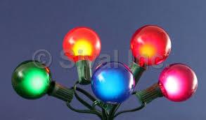 g50 globe light string set 15 lights 15 ft green cord