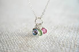 mothers necklace unique s necklace with birthstones ideas