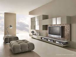 White Wood Furniture Living Room Living Room Gray Chairs White Flooring Lamp Television White