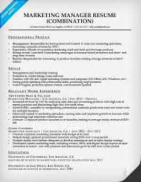Sales And Marketing Manager Resume Examples by Combination Resume Samples Resume Companion