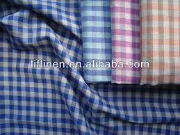 yarn dyed check mens linen cotton shirt fabric buy linen cotton