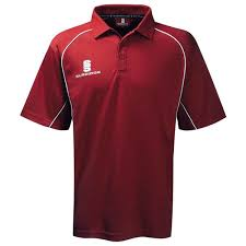 surridge sport alpha polo shirt maroon white