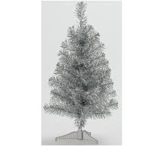 tinsel christmas tree buy home 2ft tinsel christmas tree silver at argos co uk your