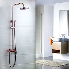 Outdoor Exposed Shower Faucet Shower Exposed Copper Pipe Shower With Industrial Handles Home