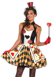alice in wonderland mad hatter queen of hearts costumes