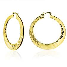 large gold hoop earrings large hammered hoop earrings high polished 2in