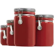 kitchen canisters ceramic red kitchen canister sets 77 nice decorating with quick view piece