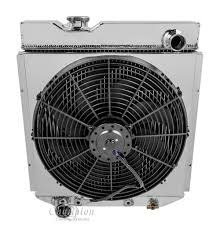 electric radiator fans and shrouds mustang v8 conversion 64 66 radiator