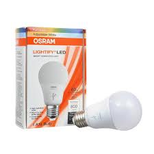 light bulbs that gradually get brighter sylvania osram lightify 60w a19 daylight rgb smart led light bulb