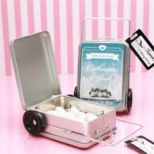 Suitcase Favors by Theme Mini Suitcase Favor Tins 12 Pcs Theme