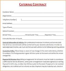 dinner order form template event contract template 6 catering contract template free