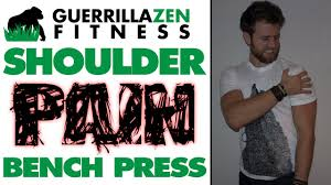 Common Shoulder Injuries From Bench Press Shoulder Pain Bench Press Relief Technique Youtube