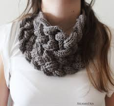 braided scarf braided cowl crochet bib scarf braided scarf crochet