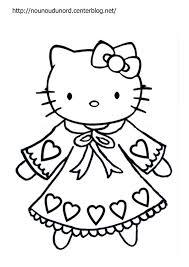 coloriage hello kitty a imprimer