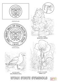 nevada state flag coloring page utah state flag coloring page eson me