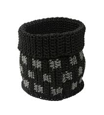 home decor habitat crochet basket