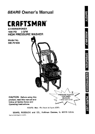 craftsman pressure washer 580 7618 user guide manualsonline com