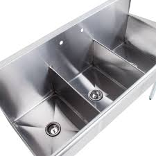 Regency  Gauge Stainless Steel Three Compartment Commercial - Three compartment kitchen sink