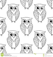 cute little owl seamless pattern stock vector image 41438507