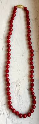 beaded red necklace images Red coral beads online london sneh joshi jpg