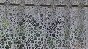 Lace Cafe Curtains Tatted Lace Imitation Of Macrame Lace Cafe Curtain The