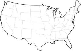 United States 50 States Map by Outline Of United States Map Outline Of United States Map
