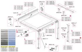 Fiamma Awning Parts Caravansplus Spare Parts Diagram Fiamma F35 Pro 180 250 Awning